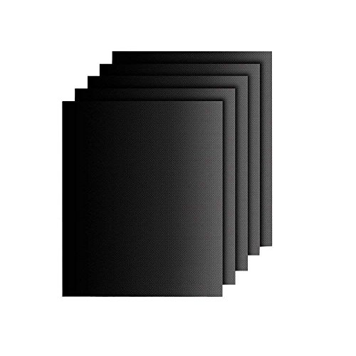 FiveFire BBQ Grill Mat Set van 5 - Niet Stick Oven Liner Teflon Kookmatten - Perfect voor Bakken op Gas, Kolen, Oven en Elektrische Grills - Herbruikbare, Duurzame, Hittebestendige Barbecue Vellen Voor Grillen Vlees, Groenten, Zeevruchten