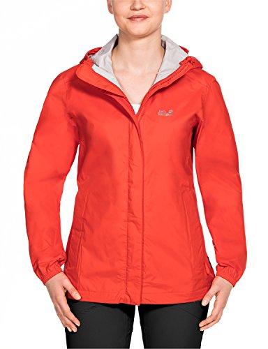 Jack Wolfskin Women's Cloudburst Jackets, Lobster Red,Size Short/Large