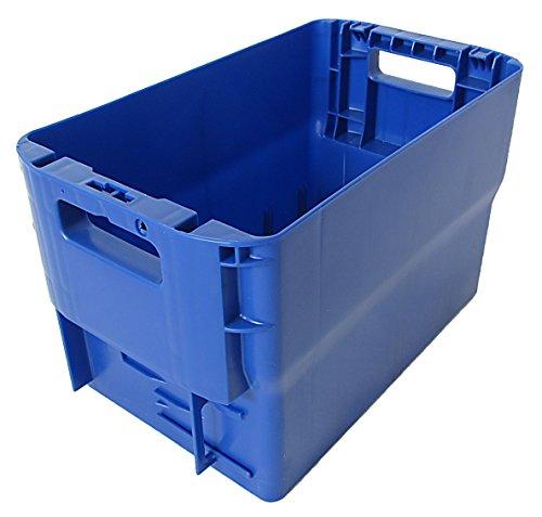 Postkisten Gr. 28cm Höhe blau Briefbehälter, Postbehälter, Stapelbox