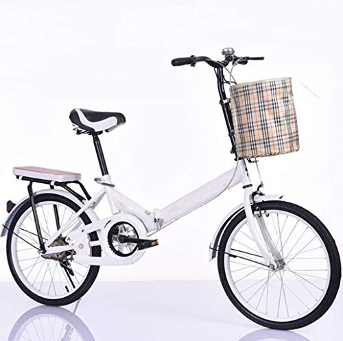 JBHURF Bicycles, Folding Bicycles, 20-inch Non-Shift Bicycles, Light Bicycles, Suitable for Mountain Roads and rain and Snow Roads, This Bicycle is Foldable. (Color : Blue, Size : 20 inches)