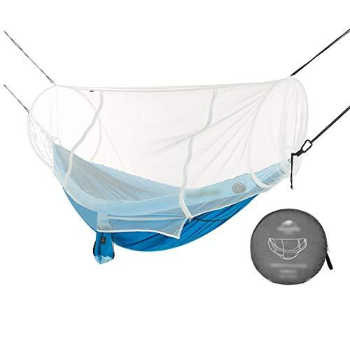 Hamacas Mobiliario de Camping Anti-Mosquitos Aire Libre Adecuado for múltiples escenas Doble Anti-Mosquitos y Anti-Insectos de Carga 150kg (Color : Blue, Size : 240 * 173cm)