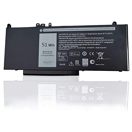 Hubei G5M10 8V5GX R9XM9 WYJC2 1KY05 Ersatzakku für Notebooks mit Dell Latitude E5450 E5550 Notebook 15.6