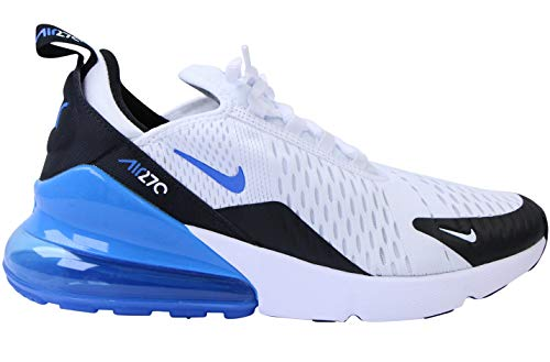 Nike AIR MAX 270 (GS) Laufschuh, White Signal Blue Black, 38.5 EU