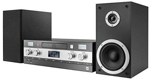 Dual DAB-MS 130 CD-Stereoanlage (DAB (+) / FM-Tuner, CD-Player, Musikstreaming über Bluetooth, USB-Anschluss, AUX-IN-Anschluss, schwarz OHNE Fernbedienung
