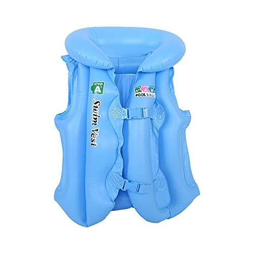 DeHolifer Schwimmweste Kinder 15-40kg Sommer Licht Auftriebsweste Kinder Rettungsweste Verstellbare Schwimmweste für Boote Kinder Tauchausbildung Schwimmwesten (Blau)