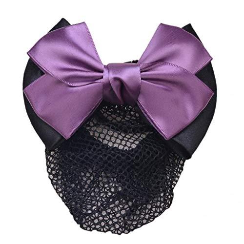 Clip Bowknot Cheveux Femme Avec Hairnet Snood Net Bun Couverture Bow Cheveux Accessoires Cheveux Barrette