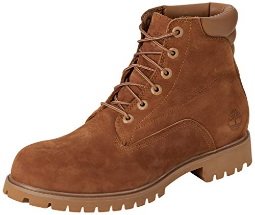 Timberland Herren 6 Inch Basic Alburn Waterproof Stiefel, Braun (Medium Brown Nubuck), 45 EU