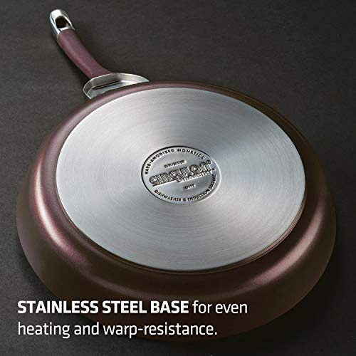 Circulon 87529 Symmetry Hard Anodized Nonstick Cookware Pots and Pans Set, 10-Piece, Merlot