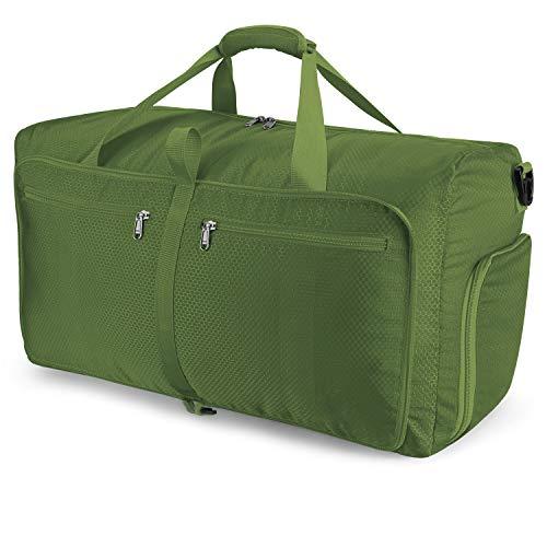 Orangeck Ultra-leggero Borsoni da Viaggio 60L, Pieghevole Impermeabile Bag Leggero Borsone Sportiva Grande Capacità Borsone da Viaggio per Aereo Sport Campeggio Borsa per Uomo e Donna