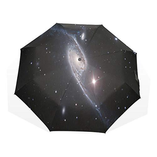 LASINSU Regenschirm,Der Condor Galaxy Space,Faltbar Kompakt Sonnenschirm UV Schutz Winddicht Regenschirm