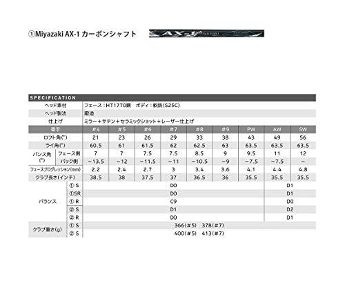 DUNLOP(ダンロップ)XXIOゼクシオエックスアイアンセット5本MiyazakiAX-1シャフトカーボンメンズ右番手:#6-9、PWフレックス:Sブラックゴルフクラブセット