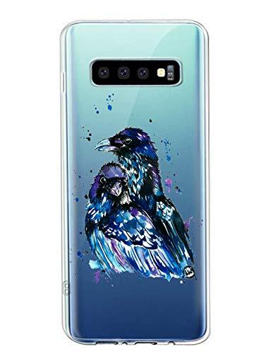 Oihxse Compatible con Samsung Galaxy J4 2018 Funda Suave Gel TPU Silicona Cristal Transparente Carcasa Acuarela Animal Pintado Patrón Protectora Estuche Bumper Caso Case (B9)