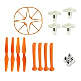 Hooray! Service Syma Orange Main Blades & Landing Skids & Frames & Main Gears & Blade Cover Spare Replacement Parts for Syma X8C X8W X8G Venture RC Quadcopter
