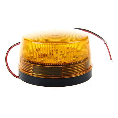 SODIAL 12V Signal de strobe d'Alarme de Securite, LED Lumiere Clignotant de d'Avertissement de Securite Bleu/Rouge Orange