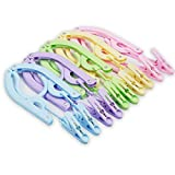 10 Pcs Travel Hangers with Clips - Portable Folding Clothes Hangers Travel Accessories Foldable Clothes Drying Rack for Travel