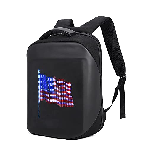 WETALK Smart LED Programmable Backpack with Unlimited Design,Independence Day
