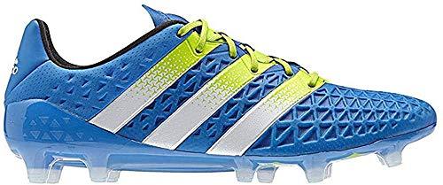 adidas Herren ACE 16.1 FG/AG Fußballschuhe, Blau (Shock Blue/Semi Solar Slime/FTWR White), 42 EU
