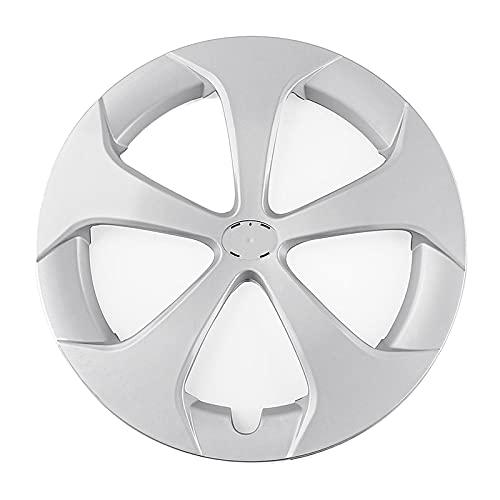 Mitte Kappen Aufkleber 15-Zoll-Auto-Radabdeckung Hub-Kappen-Ersatz kompatibel mit Toyota Prius 2012 2013 2014 2014 2015 Mittelabdeckung (Color : Silver)