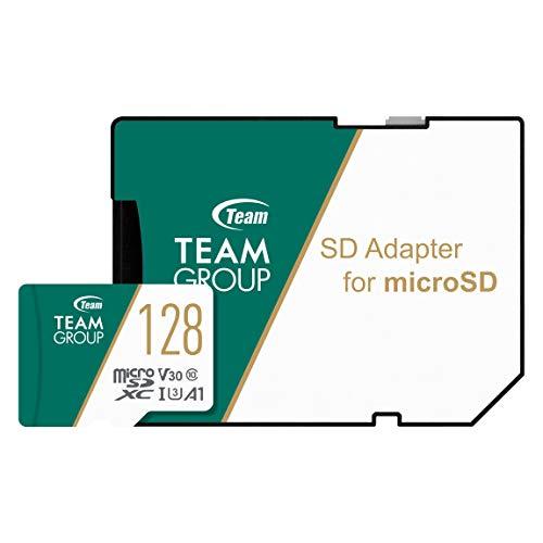 Team microSDXCカード 128GB 高速転送UHS-1 U3 V30 A1対応 日本国内10年保証 SD変換アダプター付属 正規品