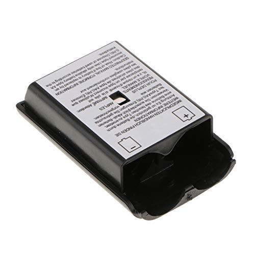 F Fityle Batteriefach Akku Deckel Cover Gehäuse für Gamepad Xbox 360 Slim Wireless Controller - Schwarz