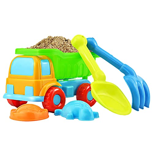 Fortn 5 PCS Enfants Beach Sand Jouets Set, Plage Sand Toys Set pour Enfants, Sécurité Eco-respectueuse de la Plage Playthings avec Sac de Maille pour Enfants et Enfants de Plus de 3 Ans