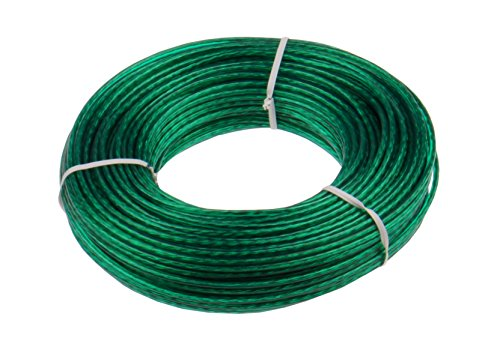 Keim Cuerda de Alambre para Tender, plástico, de 50 m y 17 x 3 x 3 cm, de Color Verde (535007)