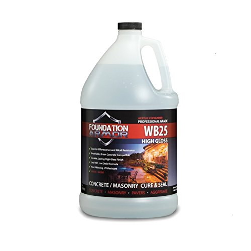 1 GAL. Armor WB25 Water Based High Gloss Acrylic Cure and Seal for New Concrete, and Existing Concrete and Pavers