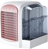 Xyfw Refrigerador De Aire Personal, Mini Aire Acondicionado, Refrigerador Evaporativo 3 En 1, 3 Velocidades De Ventilador, Ventilador De Enfriamiento Ultra Silencioso para El Hogar,Rosado