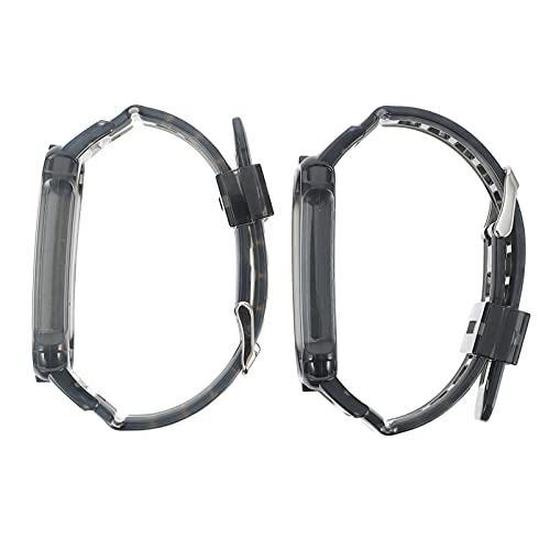 UKCOCO 2 Piezas de Correa de Reloj Transparente de TPU Correas de Reloj de Repuesto Pulseras de Reloj Compatibles para Xiaomi Mi Band 5 Miband 6