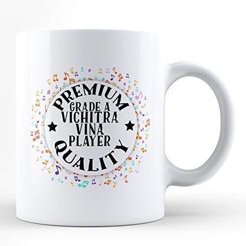 N\\A Vichitra Vina Spieler Musik Hobby Leidenschaft weiße Kaffeetasse von HOM Bestes Vichitra Vina Instrumentenspieler Erschwingliches Geschenk