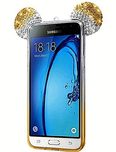 ObaStyle - Carcasa para Samsung A5.2016, con brillantes diamantes de imitación en orejas de Mickey