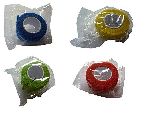 10x Pflaster selbsthaftend, dehnbar von 2,5-4,5m, Breite: 2,5cm, in den Farben Rot, Grün, Gelb & Blau erhältlich