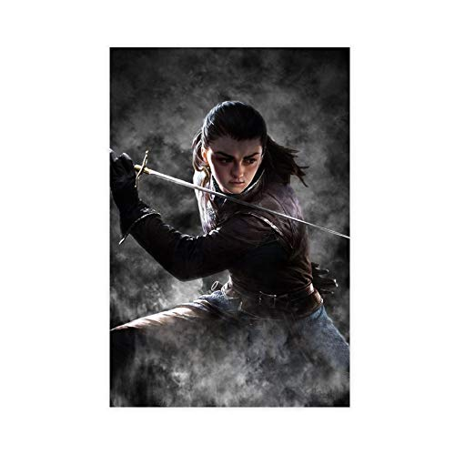 Arya Stark Juego de Tronos Lienzo Póster Decoración de Dormitorio Paisaje Deportivo Oficina Decoración de Habitación Regalo 30 × 45 cm, Estilo Unframe-1