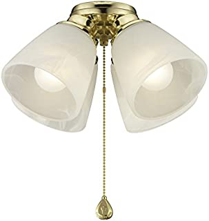 Harbor Breeze 4-Light Bright Brass Ceiling Fan Light Kit with Smart Twist and Clear Glass or Shade