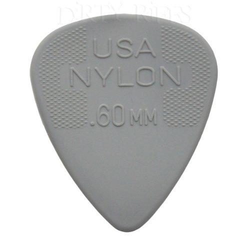 46 mm Pacco da 12 Bianco Jim Dunlop Plettri in Nylon