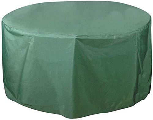 MLL Fundas para Muebles de jardín de 180x110cm, Funda Redonda para Muebles de Patio, Funda de Mesa Impermeable a Prueba de Viento con cordón de Tela Oxford Resistente Anti-UV