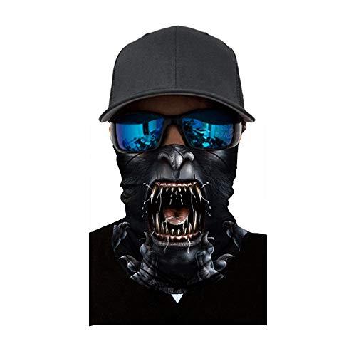 Balaclava Sturmhaube Gesichtsmaske Motorradmaske Kopfbedeckung Cool Hals Multifunktionstuch Stirnband Premium Design 3D Halstuch Kopftuch Bandana Headwrap UVSchutz Komfortabel Haltbar Fahrrad