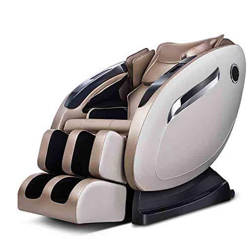 CSPFAIZA Massagesessel mit Wärmefunktion Intelligent Elektrisches Sofa Airbagmassage mit Shiatsu-Massage, Dehnen - Kneten, Bis 150 kg Belastbar - Braun/Creme,Brown