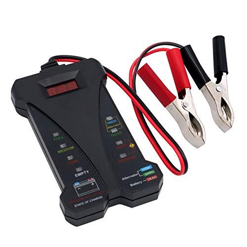 RUIZHI Comprobador de Baterias de Coche 12V Probador de Batería Digital Analizador Herramienta de Diagnóstico con Pantalla LCD para Moto Barco Camión