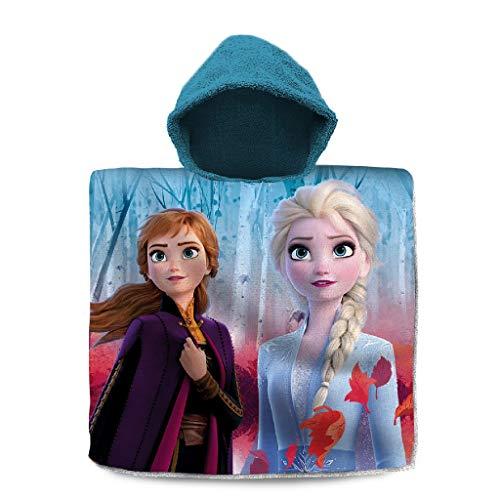 Disney Frozen Poncho 120x60 Cm 2, Unisex niños, Multicolor, Talla Única