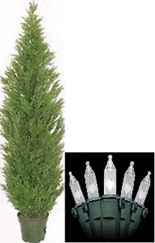 One 6 Foot Ranking TOP18 Outdoor Artificial Cedar Rate Spring new work one after another Topiary Tree UV Cypress