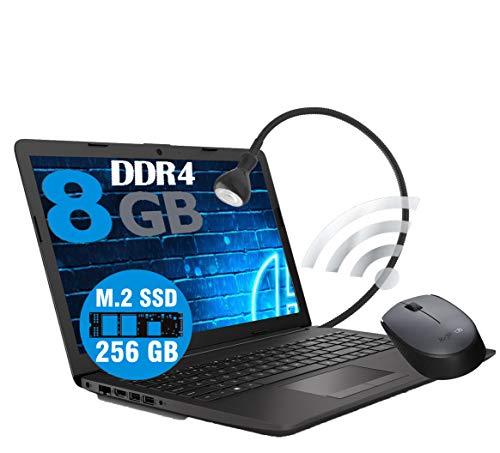 Notebook PC portátil HP 255 G7 pantalla 15.6 pulgadas CPU Amd 3020e 2,8 GHz /RAM 8 GB ddr4 /SSD M2 256 GB /Vga Radeon R3 / HDMI / Grabadora WiFi Bluetooth / Licencia Windows 10 Ratón WiFi Lámp