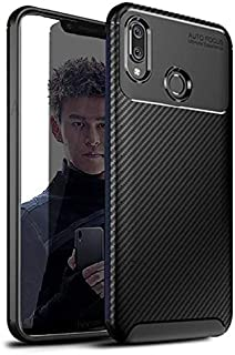 Honor Play Black Tpu Carbon Fiber Textured Case cover