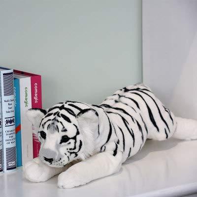 hokkk Lindo Animal de Peluche Suave Tigre Moda Juguete de Peluche bebé niño Almohada Almohada Animal león muñeca niño niña Juguete Longitud 48 cm Tigre Blanco