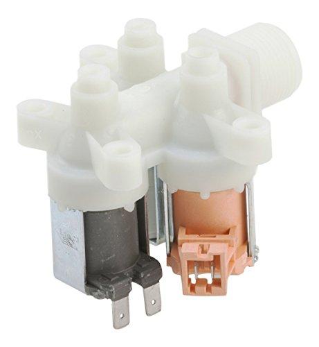 DREHFLEX - Ventil/Einlassventil/Magnetventil/Wassereinlassventil für diverse Waschmaschine von AEG/Electrolux auch diverse Geräte von Privileg/Quelle - passend für Teile-Nr. 407136019-4/4071360194