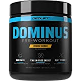DEDLift Dominus Pre Workout Powder, Crash-Free Energy, Tunnel Vision Focus, Muscle Pumps, Orange Mango, 30 Servings