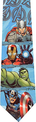 Ironman Avengers Thor Hulk Captain America Novelty Necktie