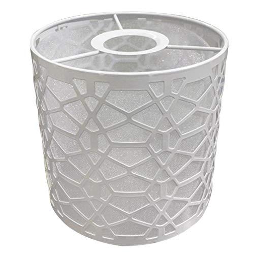 MOVKZACV Pantalla de lámpara pequeña básica, para lámpara de mesa y piso, comedor, dormitorio, pasillo, 14 x 14 cm, color blanco