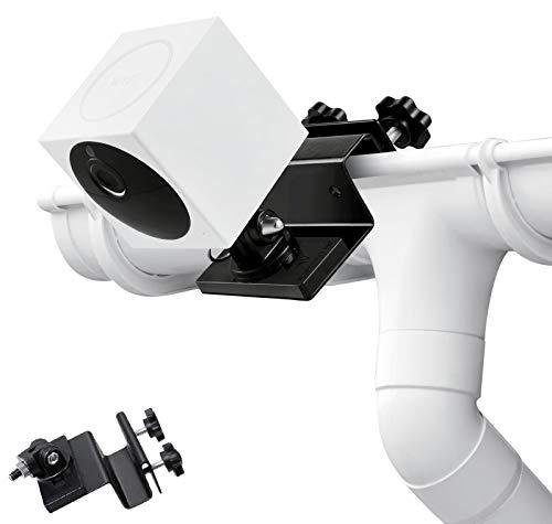 Wasserstein - Soporte de canal resistente a la intemperie compatible con Wyze Cam Outdoor - El mejor ángulo de visión para tu cámara de vigilancia (negro, 1 unidad)