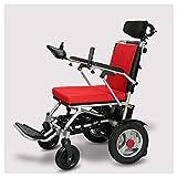ZXL@ED Elektrische Einfach Für Senioren Rollstuhl Elektro Einfach Für Senioren Rollstuhl Faltbarer Leicht Elderly Aluminiumlegierung Für Elektromagnetische Bremse Scooter Table -